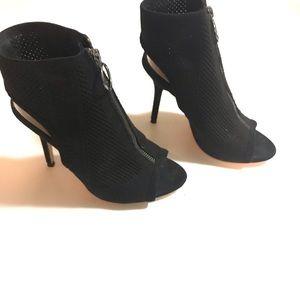 Zara zip up open toe booties worn once